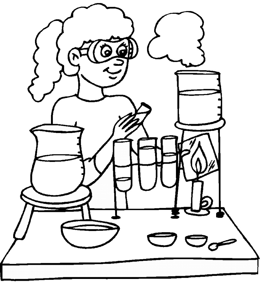 Mad Scientist Coloring Pages Collection