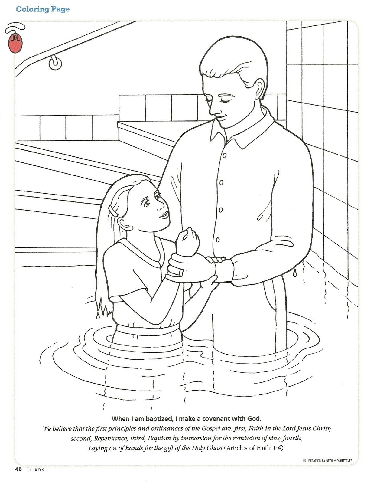 Sacrament Coloring Pages Printable