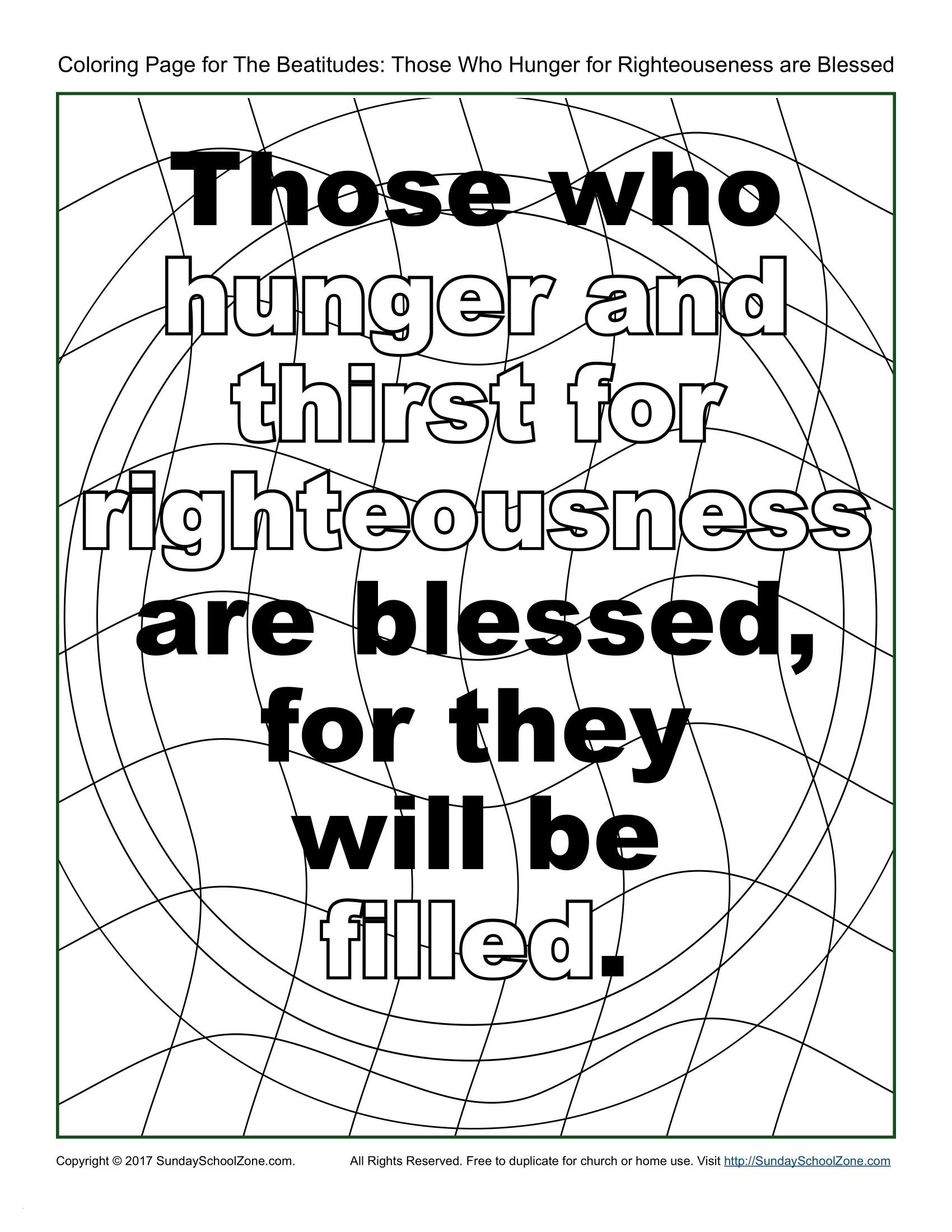 The Beatitudes Coloring Pages Download