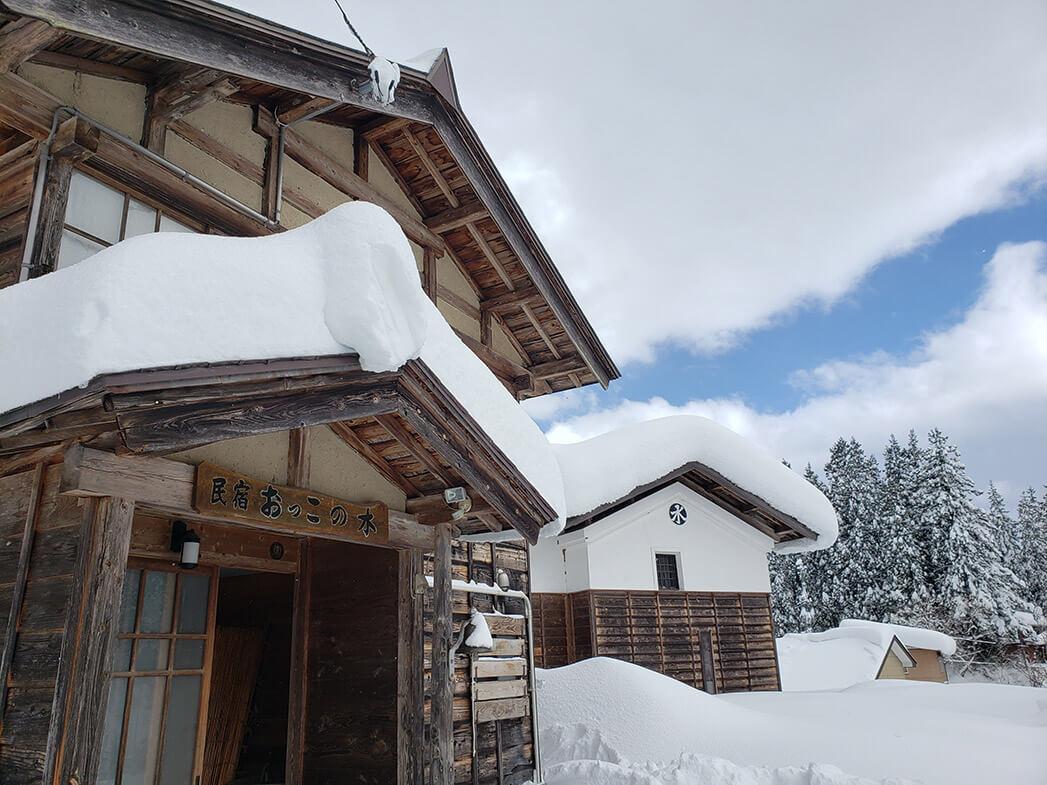 おっこの木入り口雪景色