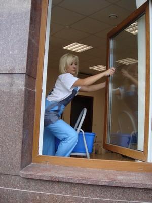 Окна удобнее мыть открыв створку
