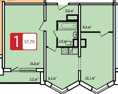 Планировка двухкомнатной квартиры в доме серии П44К