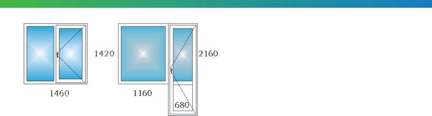 Окна в однокомнатной угловой квартире дома П3М с размерами Э