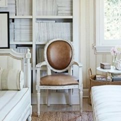 Louis Xv Chair Folding Umbrella How To Identify Types Leather Upholstery And A Crisp White Finish Add Modern Touch Round Back
