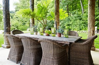 best outdoor dining chairs back pillow for office chair philippines the decorating ideas your space add classic flair with cabana stripes