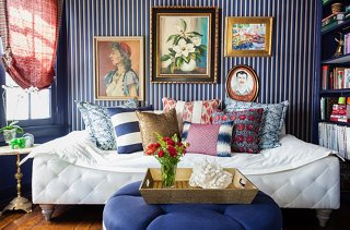 blue living room furniture decorating ideas small accent chairs for 14 beautiful and white photo by nicole lamotte