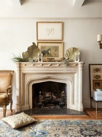 decorating above fireplace mantel | Decoratingspecial.com