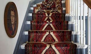 A Gorgeous Vintage Runners Diy Idea For Your Stairs   Rug For Bottom Of Stairs   Stairs Floormat   Stair Runners   Flooring   Landing Mat   Rectangle