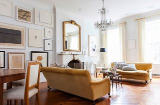 full size mirror in living room mid century modern furniture your ultimate guide to decorating with mirrors one kings lane a tall and slender antique tops the mantel west village home of alison