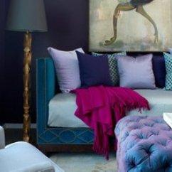 Fuschia Sofa Le Corbusier Style Bed Atlanta Homes & Lifestyles High Rise Home Tour — Live.love ...