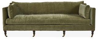 moss studio sofa reviews cau d ax sofas living room one kings lane madeline green velvet