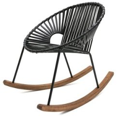 Rocking Chair And Cradle In One Your Zone Flip Multiple Colors Ixtapa Black Leather Mexa Brands Kings Lane