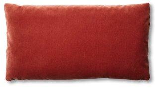 ada long lumbar pillow rust velvet