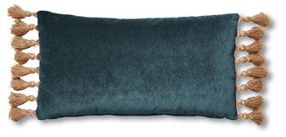 lou 12x23 lumbar pillow teal velvet