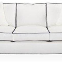 Beach Print Sleeper Sofas Extra Large Sofa Settees One Kings Lane Kate White Crypton