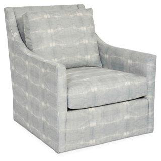 swivel club chair black wood chairs recliners gliders one kings lane fairfax mist