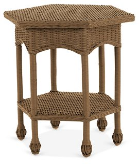 rattan side tables living room french provincial rooms wicker table chestnut standard furniture one kings lane