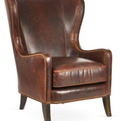Leather Wingback Chairs Baby Chair Seat One Kings Lane Dempsey Bourbon