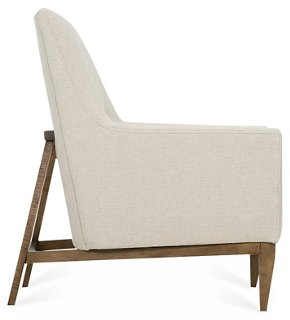 Lena Chair Beige  Accent Chairs  Living Room