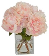 Pink Peonies in Glass Vase, Faux - The French Bee - Brands ...