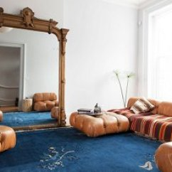 Decorating With Large Mirrors Living Room Design Your Virtual Ultimate Guide To One Kings Lane Designer Julia Chaplin Completed Her Global Chic An Oversized Floor Mirror Leaned