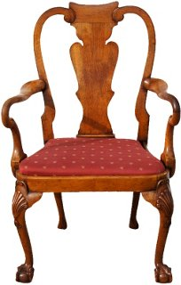 Antique Queen Anne Wing Chair