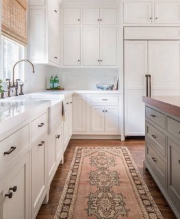 kitchen runner rugs corner base cabinet vintage rug ideas one kings lane jamiekeskindesign