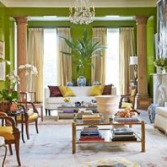 Pretty Living Room Paint Colors With Blue Walls And Brown Furniture Ideas From Benjamin Moore S Color Expert In The New Orleans Home Of Luxury Linens Maven Jane Scott Hodges Zingy Chartreuse