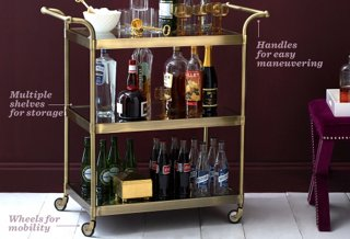 kitchen trolley cart wooden clock the essential guide to bar carts -- one kings lane