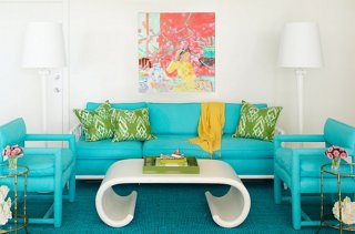beach style decorating living room houzz modern lighting palm decor photo by annie schlechter gmaimages