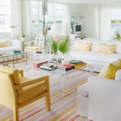 Beach Style Decorating Living Room Side Tables For White Palm Decor Photo By Annie Schlechter Gmaimages