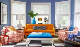 small living room ideas blue modern with tv and fireplace these 6 lessons in color will change the way you decorate one