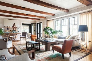 lake house living room photos mission furniture tour the chic modern of designer thom filicia contemporary and accessories almost all them from s own collection make a