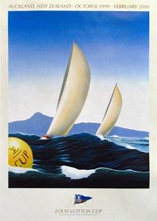 louis vuitton cup sailing poster 1999