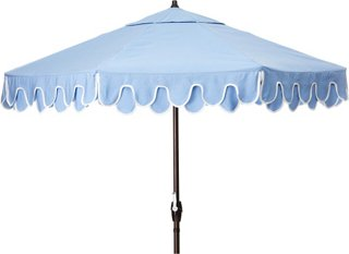 phoebe scallop patio umbrella air blue natural