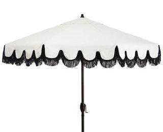 phoebe fringe patio umbrella white