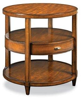 Buhman Round Side Table, Maple