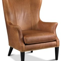 Leather Wing Chairs Baby Rocking Chair Covers Tristen Wingback Saddle Living Room Furniture One Kings Lane