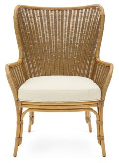 rattan wingback chairs gaming cheap lara chair nutmeg selamat brands one kings lane complete your dining room