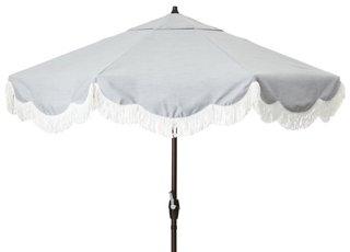 cloud fringe patio umbrella granite sunbrella