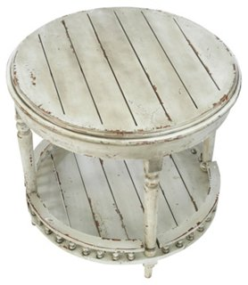 Emma Side Table, Distressed White