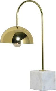 Valdosta Table Lamp, Brass/White - Table Lamps - Indoor ...