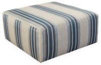 Miles Cocktail Ottoman, Blue Stripe - Ottomans - Ottomans ...