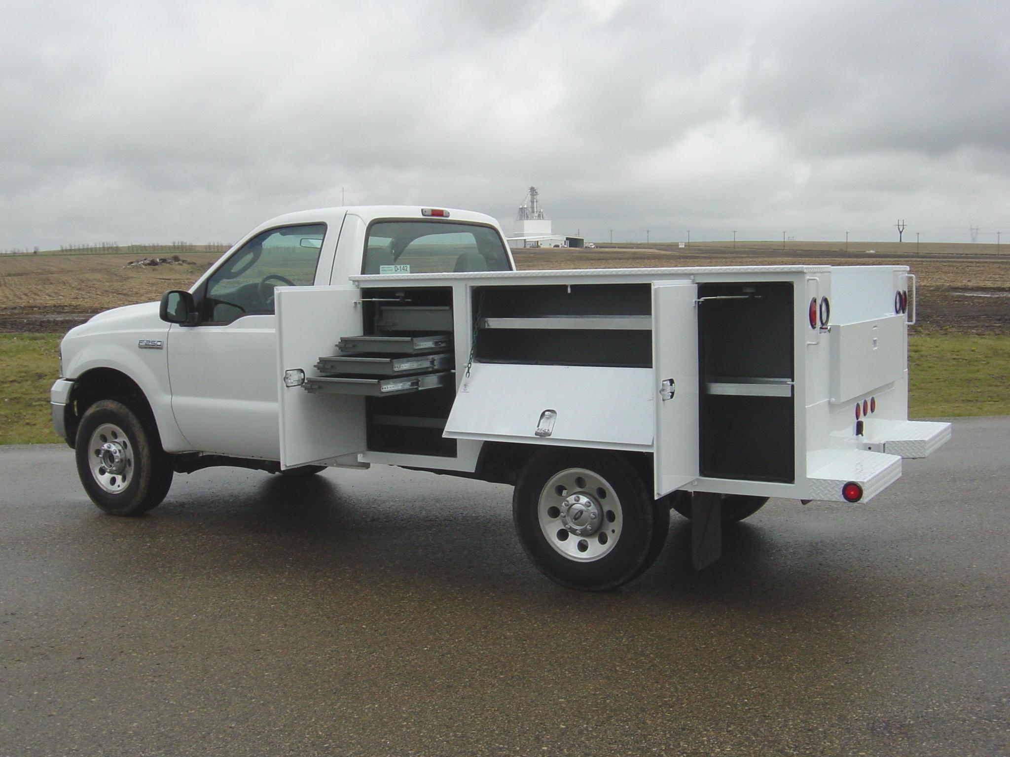 Dakota service bodies installed by Oklahoma Upfitters