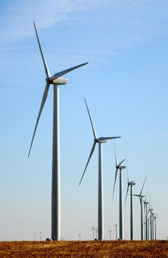 Wind turbines in Garfield County..