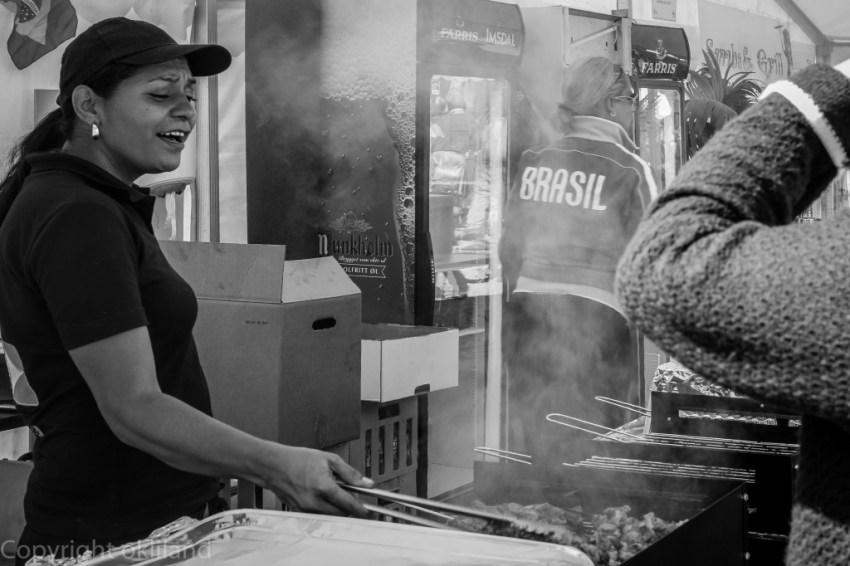 BBQ lady på Gladmat