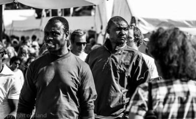 To menn på Gladamat festivalen i Stavanger