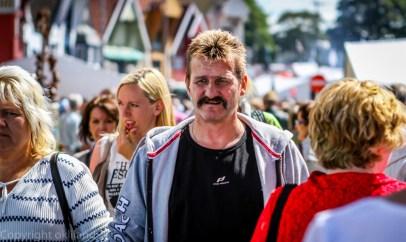 Mann med bart på Gladmat festivalen i Stavanger