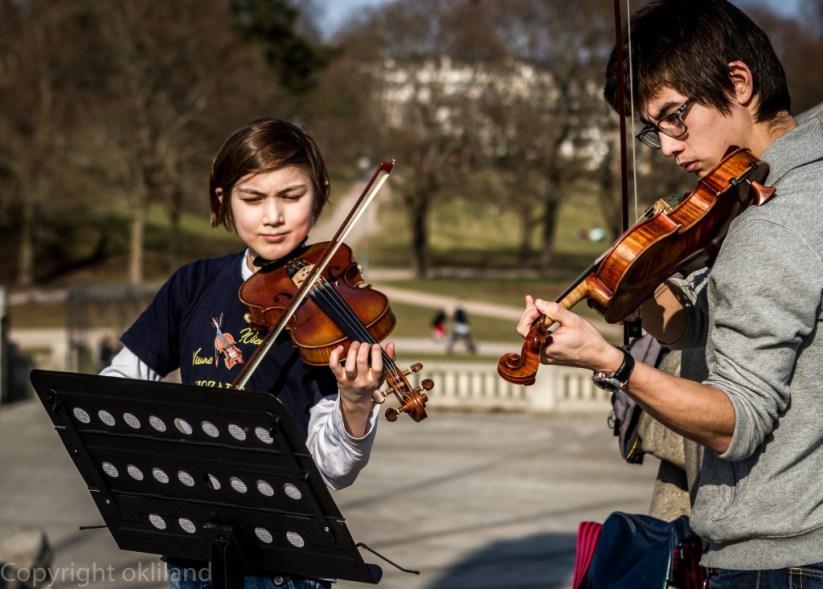 Musikere i frognerparken