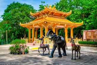 Bilde, Elefanter tempel Thailand Ørjan Liland